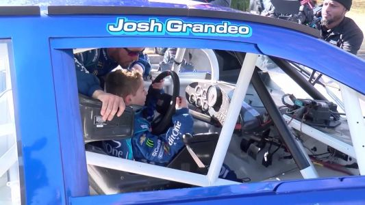 Third grader joins NASCAR pit crew for a day