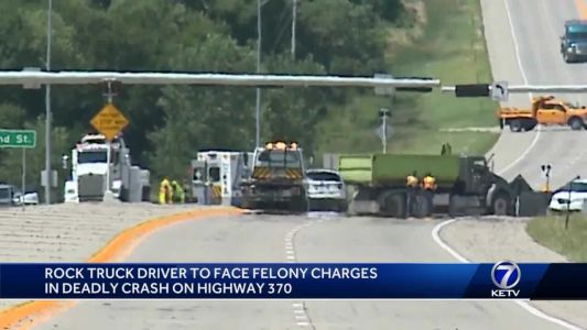 Dump truck driver faces 2 vehicular homicide charges for crash that killed 2 Millard students