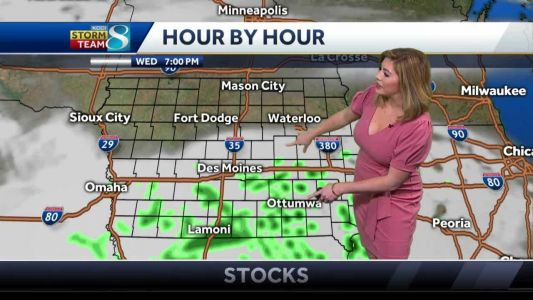 Temperatures begin to warm and bring storm chances