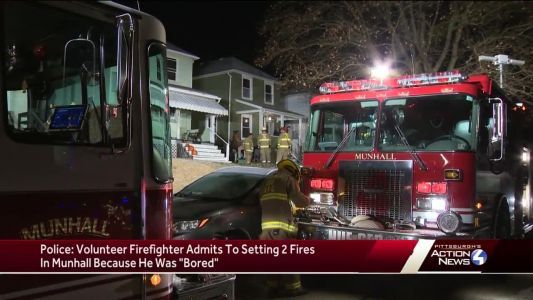 """Police: Volunteer firefighter set 2 fires on purpose because """"he was bored"""""""