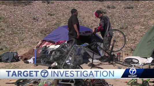 How do you clean up dozens of homeless camps in Albuquerque?