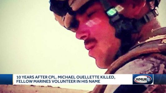 Family, Marines volunteer at nonprofit on 10th anniversary of NH Marine's death