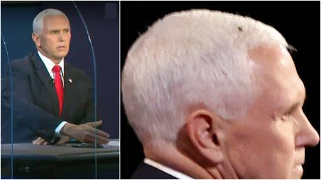 And the winner is. The FLY? Biden fundraises off huge bug after it lands on Pence's head & steals show at VP debate