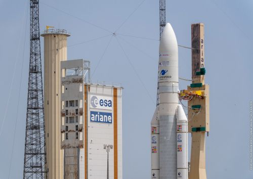 An Ariane 5 rocket will launch 2 satellites for Japan, Korea today. Watch it live!