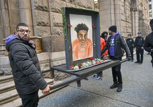 As Michael Rosfeld trial begins, mood calm, respectful outside courthouse