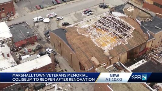 Renovated Marshalltown Veteran's Memorial Coliseum to be unveiled after derecho, tornado