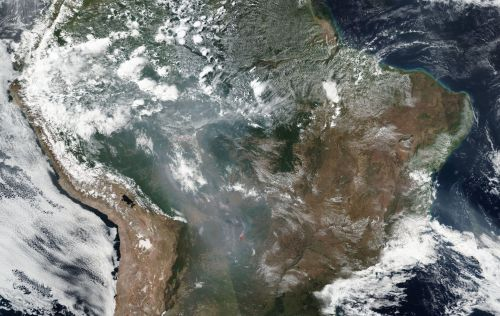 The blazes in the Amazon are so big they can be seen from space. One map shows the alarming scale of the fires
