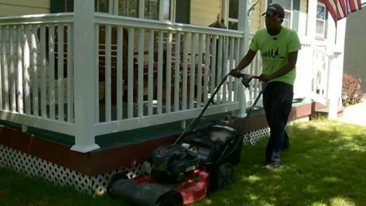 Ford gives lawn-mowing hero - who helps people across the US - a new set of wheels