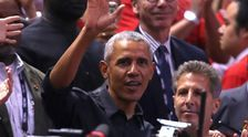 Barack Obama Gets Hero's Welcome At NBA Finals In Toronto With Cheers, 'MVP' Chants