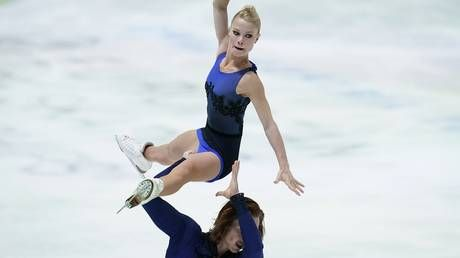 'I saw the ice getting closer': Russian figure skating duo narrowly avoids TERRIFYING fall