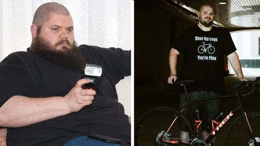 Man now nearly half his former 500-pound self thanks to cycling