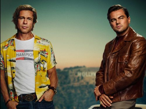 The first poster for Brad Pitt and Leonardo DiCaprio's new movie was released, and people are making jokes about its amateurish design