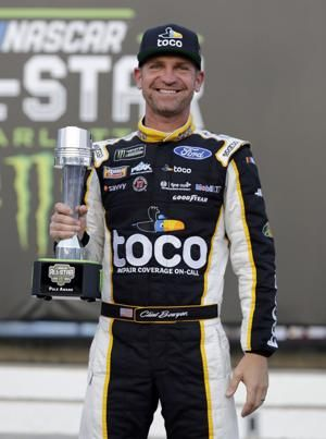 Larson takes first NASCAR All-Star victory with Harvick push