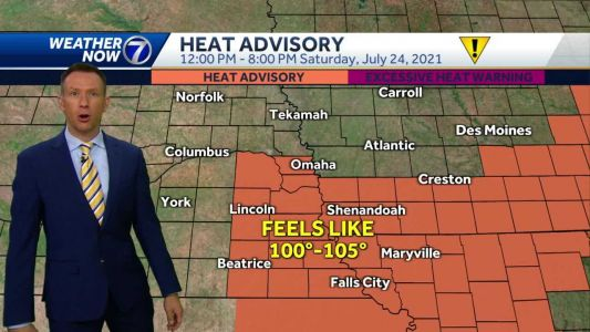 IMPACT WEATHER: Heat Advisory in effect for some Saturday