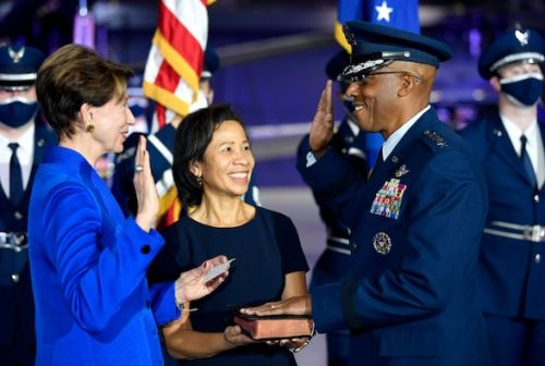 Brown formally installed as 22nd Air Force Chief of Staff