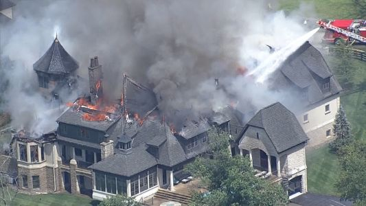 Cause of massive fire at Oldham County mansion under investigation