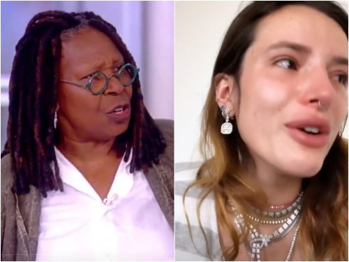 Bella Thorne tearfully called out Whoopi Goldberg for criticizing her leaked nude photos: 'Blaming girls for taking the photo in the first place is sick and honestly disgusting'