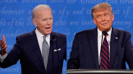 'Will you shut up, man?' Biden struggles to talk over interjecting Trump as debate get off to a messy start