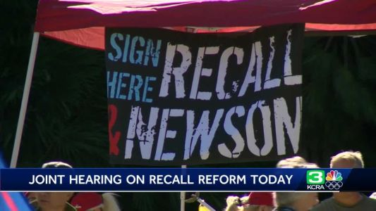 California lawmakers to review recall process Thursday