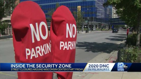 Inside the DNC security zone