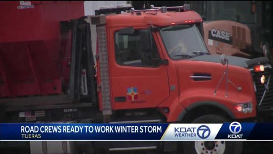 Many expected to drive home after holiday, road crews ready to plow winter storm snow