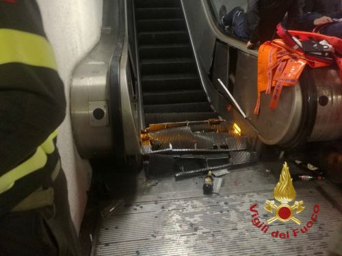 Escalator goes rogue, surges forward rapidly, injures 20 soccer fans in Rome