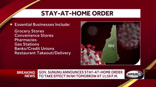 Sununu announces stay-at-home order, directs nonessential businesses to close