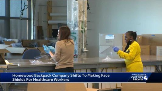 Backpack company based in Homewood making 40,000 face shields for medical staff