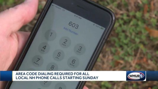 Area code required for all local NH calls starting Sunday