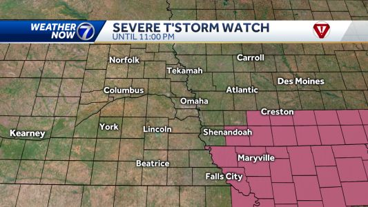 Severe T-Storm Watch issued for parts of the KETV viewing area Saturday evening