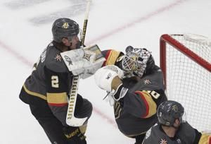 Lehner, Golden Knights shut down Blackhawks 4-1 in opener