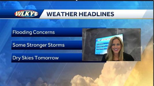 Heavy rain, strong storms possible today