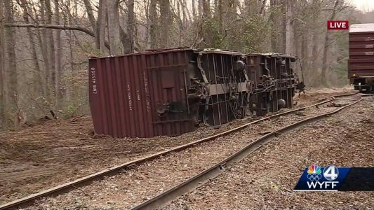 Third train derailment reported in Upstate in 4 months