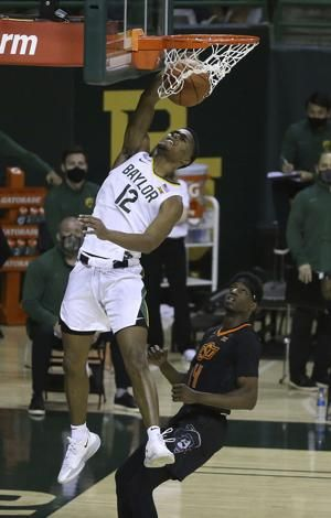 Big 12 champ No. 3 Baylor beats No. 17 Oklahoma State 81-70