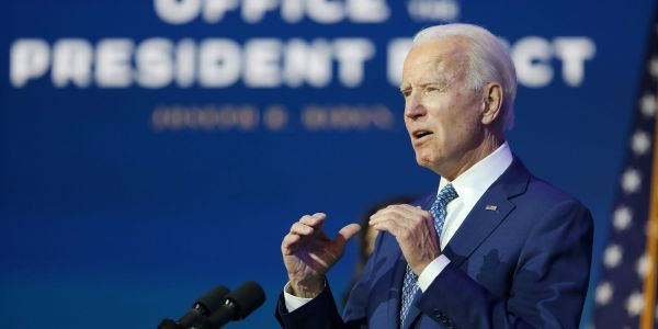 Biden urged the Senate to focus on the needs of the country as the move forward with Trump's impeachment proceedings