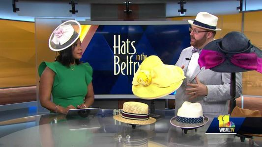 Hats in Belfry representative shows off more hat styles for Preakness