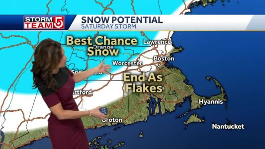 Video: Storm may end with snow for some