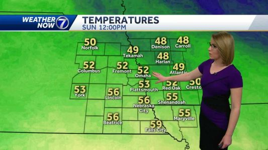 Staying sunny with lighter winds Sunday afternoon