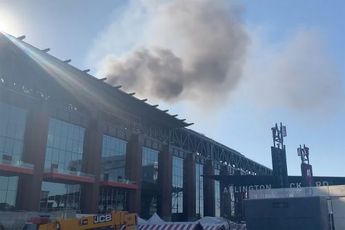 Fire breaks out at under-construction Texas Rangers stadium
