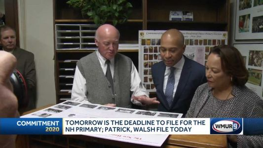 Tomorrow is the deadline to file for the NH primary; Partick, Walsh file today