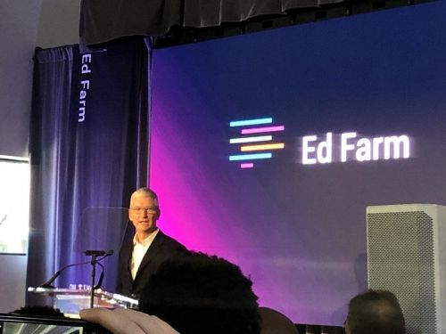 Tim Cook is in Alabama to announce EdFarm's use of Apple's AR technology