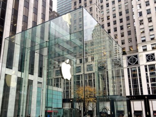Apple Stores get huge neon window dressing to celebrate iPhone 12 launch