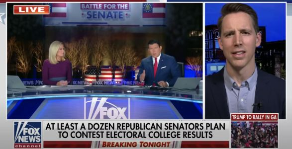 'Are you trying to say' that 'Trump will be president?': Fox News host Bret Baier grills Sen. Josh Hawley over his election challenge