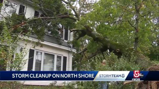 Cleanup continues on North Shore after storm