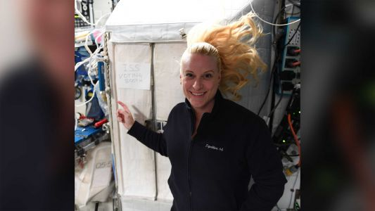 This American astronaut voted from space. Here's how she did it