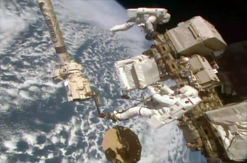 Spacewalkers Splice in New Pumps to Repair $2B Cosmic Ray Detector