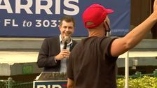 Pete Buttigieg Gets Trump-Supporting Heckler To Denounce White Supremacy