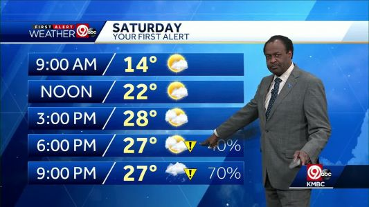 First Alert: Wintry mix to move in Saturday night