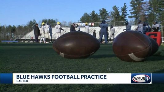 Exeter HS football preps for Merrimack