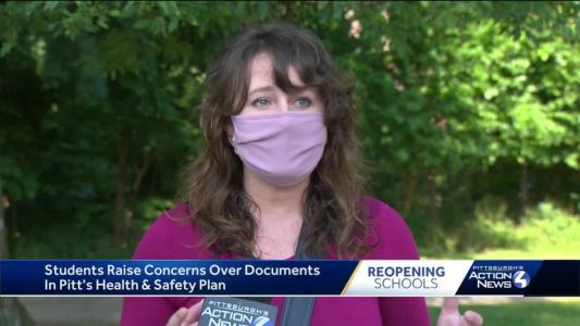 Some University of Pittsburgh students concerned about health and safety plan